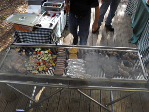 Static Barbeque Setup